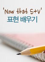 'Now that S+V' 패턴 배우기
